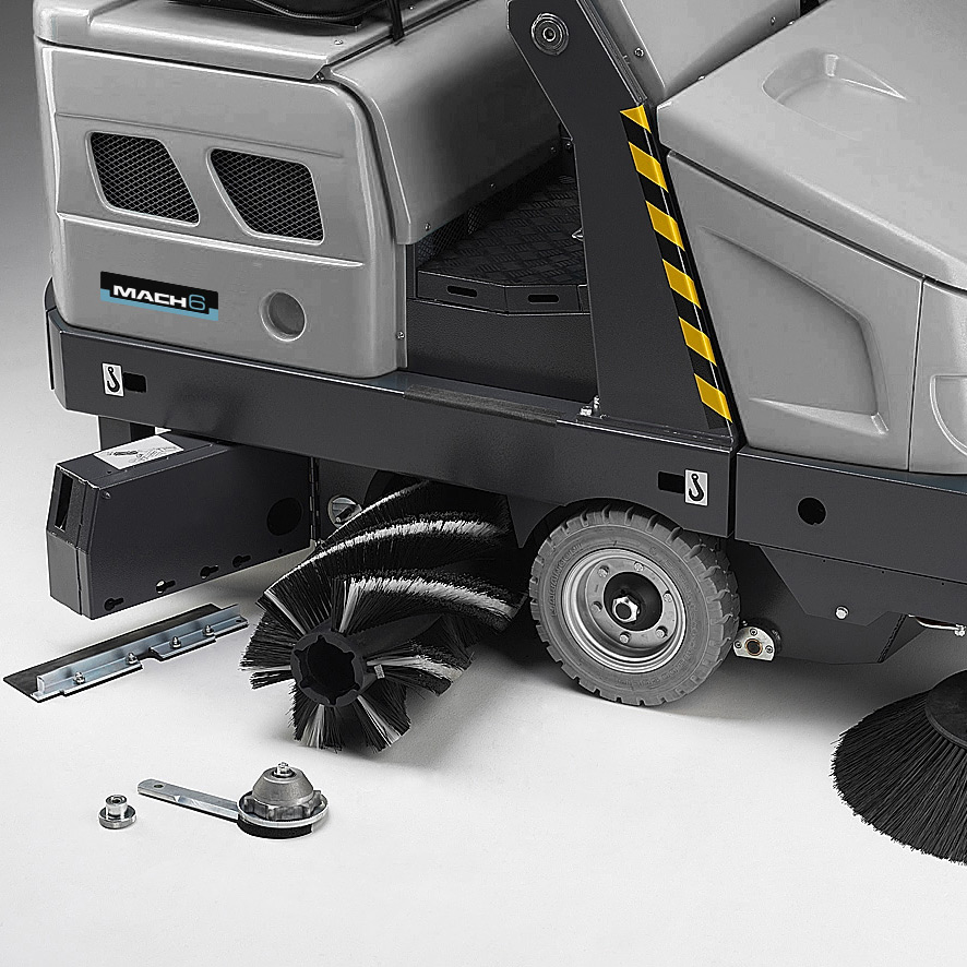 MACH 6 RIDE-ON SWEEPER QUICK AND EASY MAINTENANCE