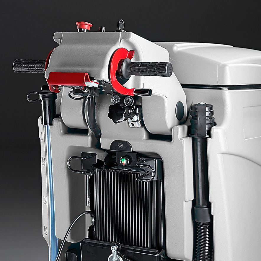 MACH M810 WALK BEHIND SCRUBBER WITH ONBOARD BATTERY CHARGER