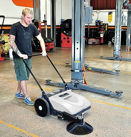 MACH MEP AWARD WINNING MANUAL SWEEPER WITH VACUUM FILTRATION SYSTEM